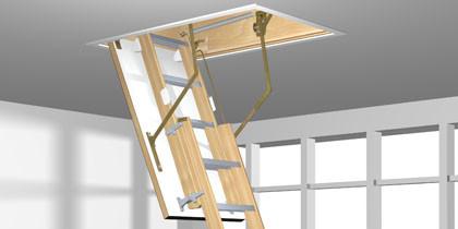 escalier escamotable roto alu Plus2 en 2 éléments